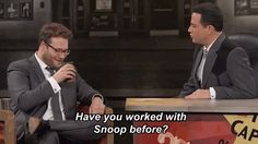 Seth Rogen And Snoop Dogg Smoked Weed Together