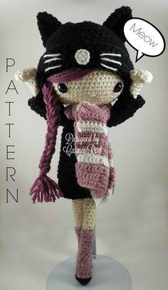 Miriam - Amigurumi Doll Crochet Pattern PDF                                                                                                                                                                                 More