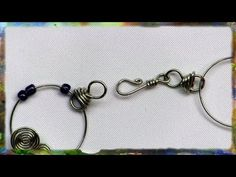 How to Construct the Wire Wrap Hook and Eye Clasp, Basic Jewelry Design - YouTube