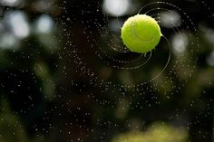 This is a great high speed capture by photographer Arvin Rahimzadeh who snapped a photo of this spinning, water-soaked tennis ball that exemplifies the geometry behind a golden spiral.