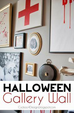 DIY Halloween Gallery Wall
