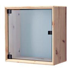 NORNÄS Vitrina de parede - pinho cinz/azul - IKEA - 35€