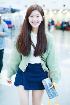 Cute Girl Face, Daily Pictures, Ulzzang Boy, Korean Celebrities, Korean Outfits, My Idol, Cute Girls, Denim Skirt, Actors