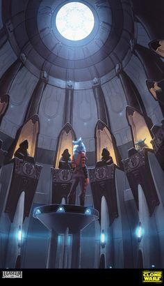 The amazing concept art of David Le Merrer for The Clone Wars Star #design
