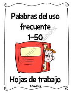 These are the most common high frequency words in Spanish. There are 50 pages each with work for children to do during center time. Spanish Classroom Activities, Spanish Teaching Resources, Bilingual Classroom, Bilingual Education, Spanish Lessons, Teacher Resources, Word Study, Word Work, Teaching Vowels