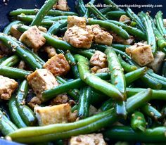 Tofu and green beans stir-fry  http://www.amazon.com/Smart-Cooking-Busy-People-ebook/dp/B00CQX26OM