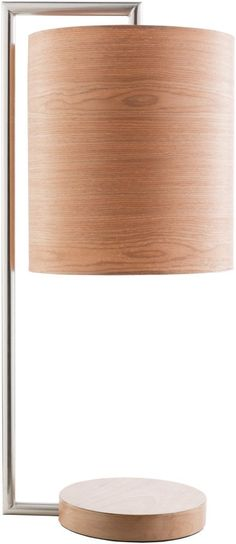 Hunter Contemporary Table Lamp Brushed Nickel Red Birch