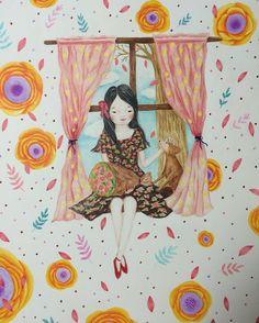 내사랑 버들이 •••••#작업물 #artwork #illustration #illust #drawing #드로잉#일러스트#삽화#색연필일러스트