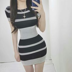 LunasAngel♡ Korean Outfits, Trendy Outfits, Girl Outfits, Cute Outfits, Skinny Girl Body, Skinny Girls, Moda Ulzzang, Ulzzang Girl, Casual Dresses