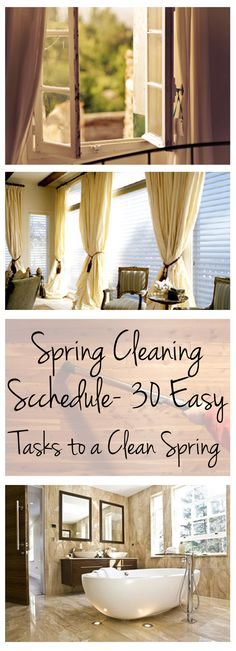 Spring Cleaning Scchedule- 30 Easy Tasks to a Clean Spring (1)