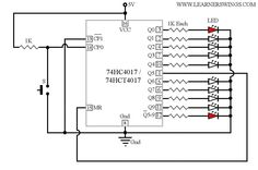 Easy Method to Reduce the Number of Decoded Outputs of 74HC4017 / 74HCT4017 Read more at: http://www.learnerswings.com/2014/10/easy-method-to-reduce-number-of-decoded.html