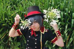 Ciel Phantomhive Kuroshitsuji Strawberry Cosplay Costume handmade artbook fanart by AriBRabbitStore on Etsy