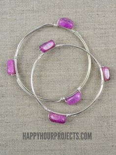 DIY Wire Wrapped Bead Bangle Video Tutorial