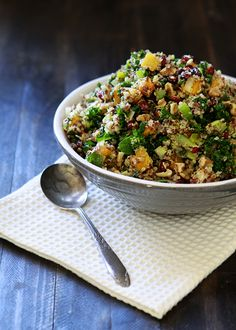 quinoa stuffing with butternut squash - try something different from traditional #stuffing