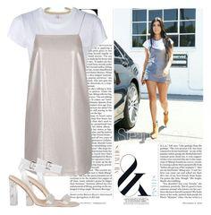 """Steal Her style: Kourtney Kardashian"" by oshonsparkles ❤ liked on Polyvore featuring Nicki Minaj, RE/DONE, Topshop and Maison Margiela"
