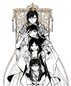 MAGI: The Labyrinth of Magic, Ren Hakuryuu, Ren Hakuei, Ren Hakuyuu, Ren Hakuren,