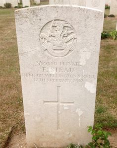 Private F.Stead  2nd Battalion, Duke of Wellington's Regiment  Executed for desertion 12/02/1917 Suzanne Military Cemetery No.3