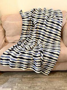 Benjamin Throw Crochet PATTERN Wave Stitch Blanket Crochet | Etsy