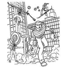 Spiderman Catching The Bank Robbers Coloring Pages Spiderman Coloring Coloring Pages Spider Coloring Page