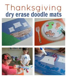 Dry Erase  doodle mats for Thanksgiving