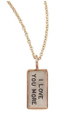 i love you more necklace -- cute