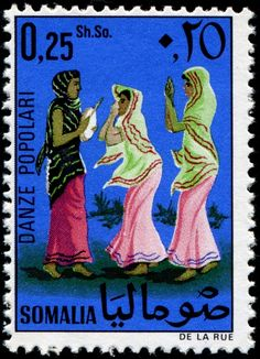 Post stamp from Somalia - Folk dancers Horn Of Africa, Postage Stamp Art, Love Stamps, Vintage Stamps, Lets Dance, Photo Wall Collage, French Artists, Stamp Collecting, So Little Time