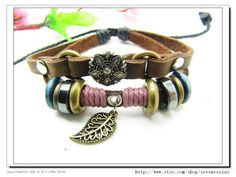 Adjustable Couple bracelets Cuff made of Leather by sevenvsxiao, $8.00