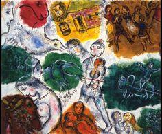 Marc Chagall. COmposición, 1976. Óleo sobre lienzo. Colección privada.  WikiPaintings.org - the encyclopedia of painting