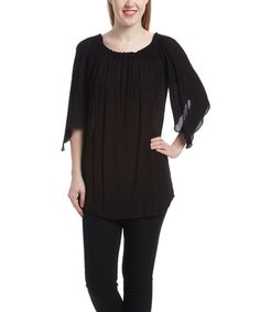 This Black Peasant Top is perfect! #zulilyfinds