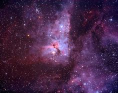 The Keyhole Nebula is one portion of NGC 3372, also known as Carina Nebula. It is approximately 7 light years in diameter.