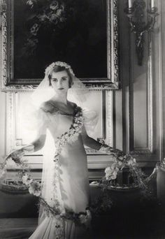 Margaret Campbell (née Whigham), Duchess of Argyll. Photographed by Cecil Beaton, January 1933 as bridesmaid for his Sister Nancy's wedding ~Image © National Portrait Gallery, London.