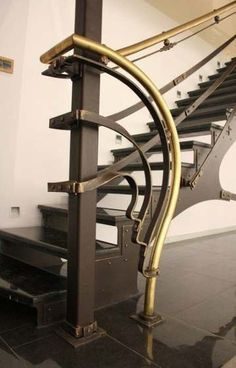 Looking for Modern Stair Railing Ideas? Check out our photo gallery of Modern Stair Railing Ideas Here. Interior Stair Railing, Modern Stair Railing, Stair Railing Design, Metal Stairs, Stair Handrail, Modern Stairs, Railing Ideas, Iron Staircase, Staircases