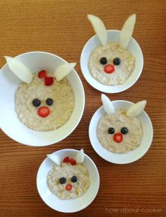 My Owl Barn: Mother's Day Breakfast Ideas Toddler Snacks, Fun Snacks For Kids, Kids Meals, Edible Crafts, Edible Food, Easter Recipes, Baby Food Recipes, Easter Food, Cute Food