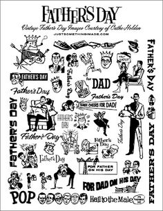 Retro Clip Art - Father's Day - Funny Dads - The Graphics Fairy