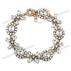 Wholesale Retro Rhinestone Flower Bracelet For Women (AS THE PICTURE), Bracelets - Rosewholesale.com