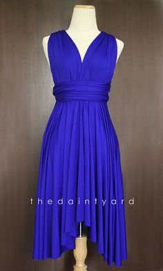 Royal Blue Bridesmaid Convertible Dress Infinity Dress Multiway Dress Wrap Dress Wedding Dress   Keep in mind for my maids of honor