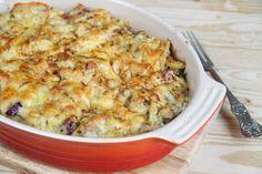 Makaronowa zapiekanka z tuńczykiem Tasty, Yummy Food, Tuna, Macaroni And Cheese, Baking, Vegetables, Ethnic Recipes, Marcel, Dinner Ideas