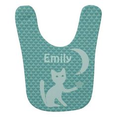 (Cat Playing with Moon and Stars Bib) #CatLovers #CatPlaying #Cats #Cute #Kitten #MoonAndStars #PlayfulCat #Teal is available on Funny T-shirts Clothing Store   http://ift.tt/2dy6cwk