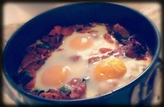 Homemade Baked Eggs with Chorizo and Bacon | fastPaleo Primal and Paleo Diet Recipes