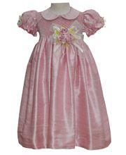 Light Pink Girls Silk Dress    http://www.carouselwear.com/Light-Pink-Girls-Silk-Dress.html