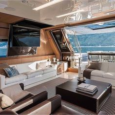"""Stunning Yacht Interior! ✨⚓️ What do you think about it?  All credits go to the owner/ photographer"""