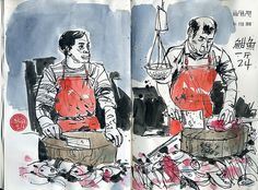 Fish peddlers by Don Low, via Flickr
