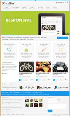 Powerful premium portfolio and business WordPress theme from ThemeForest
