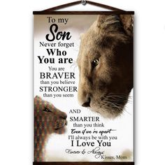 Lion canvas poster to my mom always be your little girl you will always be my loving mother i love you forever & always love your daughter Love You Dad, I Love You Forever, Always Love You, Daughter Love, My Love, Hold My Heart, Feeling Inadequate, Dear Mom, Canvas Poster