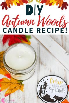 This woodsy scented soy candle is so simple and easy to make. You're only going to need a few ingredients and some essential oils to get started. It's simple to create and burns clean. Say goodbye to all those chemicals in your house and instead, make your very own homemade candle. You just might find out that you don't ever want to go back to a storebought candle ever again. Great for home use or to even give as a gift. #homemadecandle #soycandle #fallscents #candlemaking #homemadegift