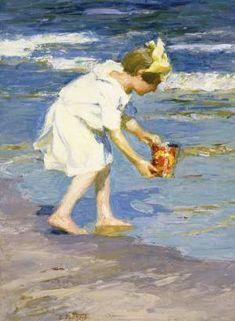 Edward H. Potthast (American, 1857-1927) - Brighton Beach http://www.pinterest.com/marimonte58/au-bord-de-la-mer/