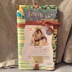 """Quick Crafts """"Tote-n-Go Stash Sax Set Of Three This Is A Set Of Three Tote & Go Sacks All U Need To Do IsSew Then Per Directions ! Includes Everything You Need , new And In Excellent Condition, Thanks! Quick crafts Other"""