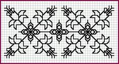Blackwork Pattern - Daffodils [9K]