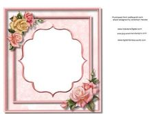 Incert Pink with roses on Craftsuprint - Add To Basket!
