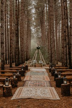 Romantic Boho-Chic Wisconsin Forest Wedding A romantic outdoor boho-chic forest wedding in Wisconsin. This intimate destination DIY wedding is full of all of the woodland wedding dreams. Wedding Goals, Diy Wedding, Wedding Planning, Dream Wedding, Wedding Dreams, Rustic Boho Wedding, Wedding Stuff, Viking Wedding, Eclectic Wedding
